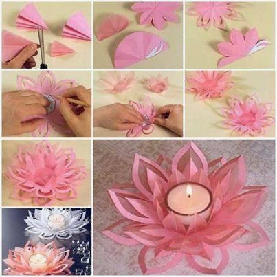 Цветы из бумаги пошаговое фото легкие плоские 168