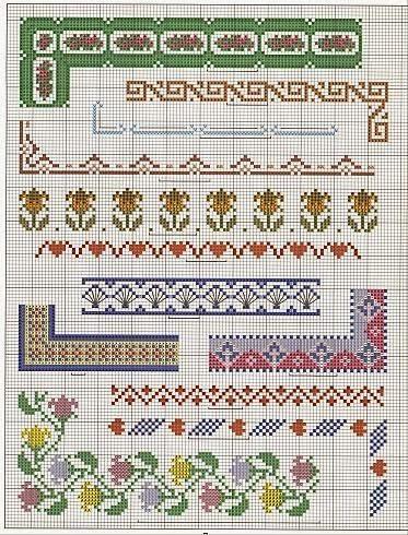 Вышивание крестиком полотенец схемы - в чём различие - русск.